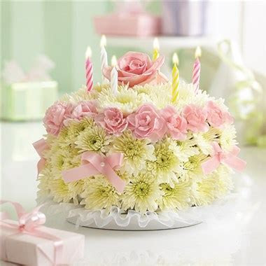 1 800 FLOWERS® BIRTHDAY FLOWER CAKE® PASTEL   Baskets & Blooms