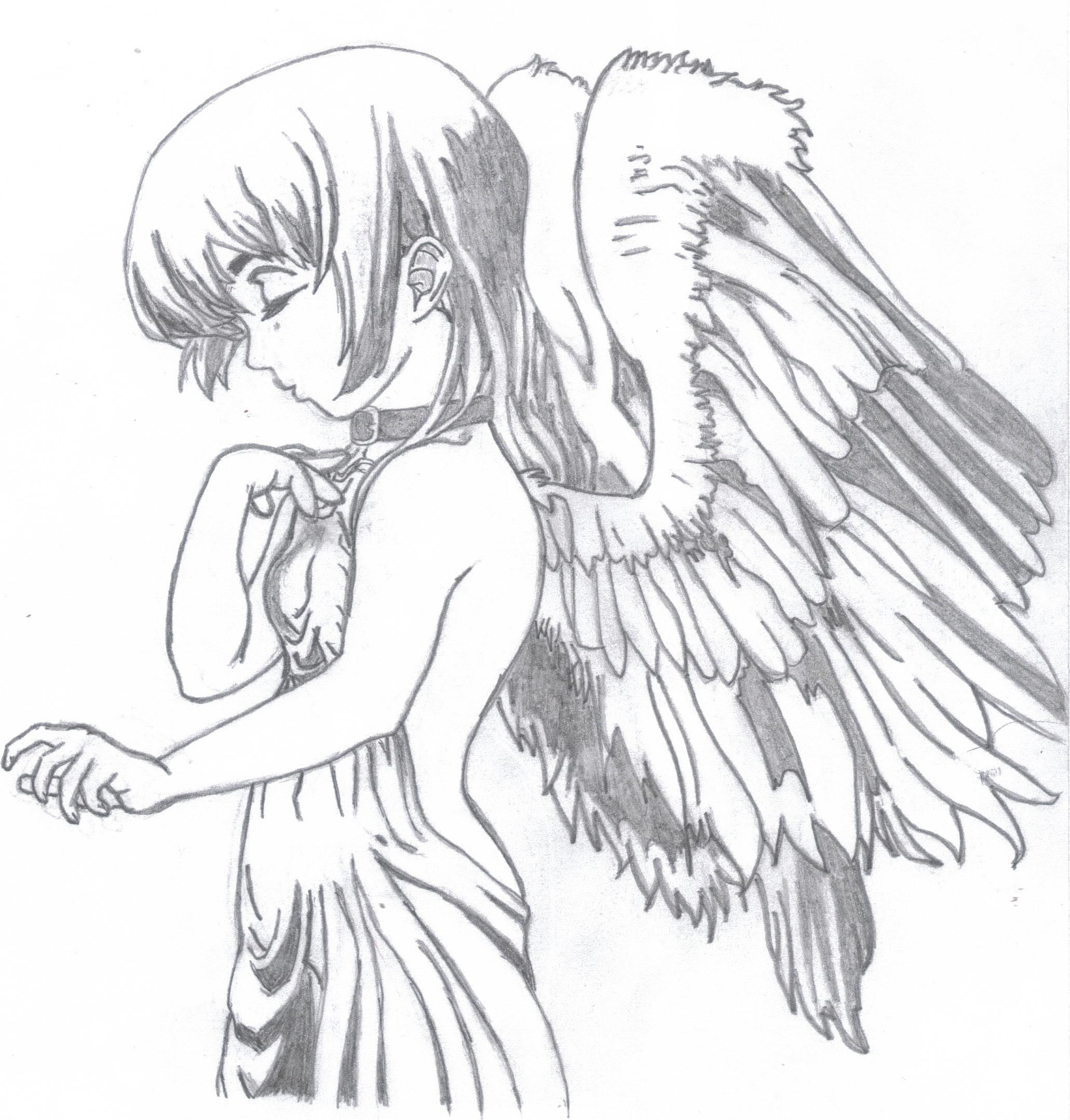 Anime angel girl drawings ruang belajar siswa kelas 10