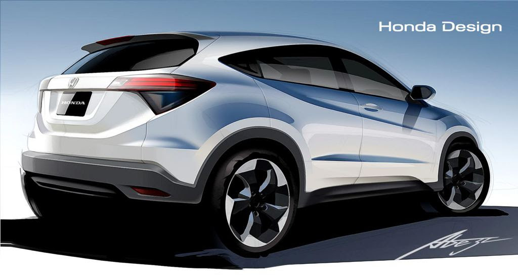 New Honda HR-V Previewed in Official Drawings
