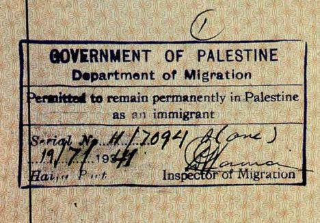 Poking fun: The visa 'allowing' Hitler's entry into Palestine
