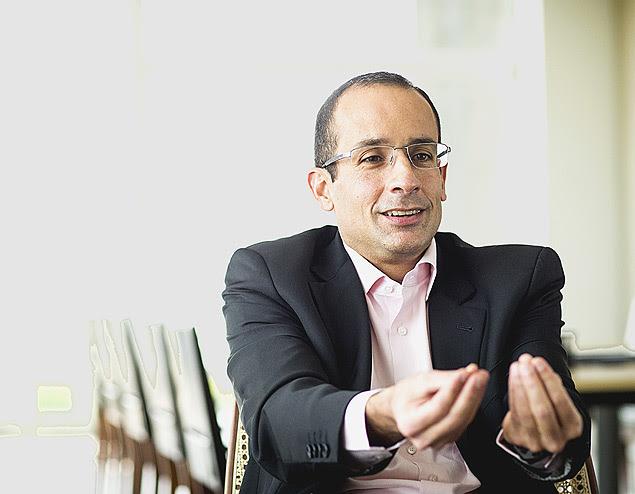 O empresário Marcelo Odebrecht em seu escritório em São Paulo