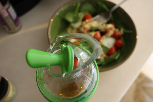 top pouring feature OXO salad dressing shaker