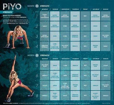piyo strength month    piyo workout calendar piyo
