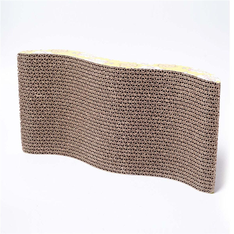 Corrugated Paper Cat Scratch Board Toy Mats Pot Grinding Claw Play