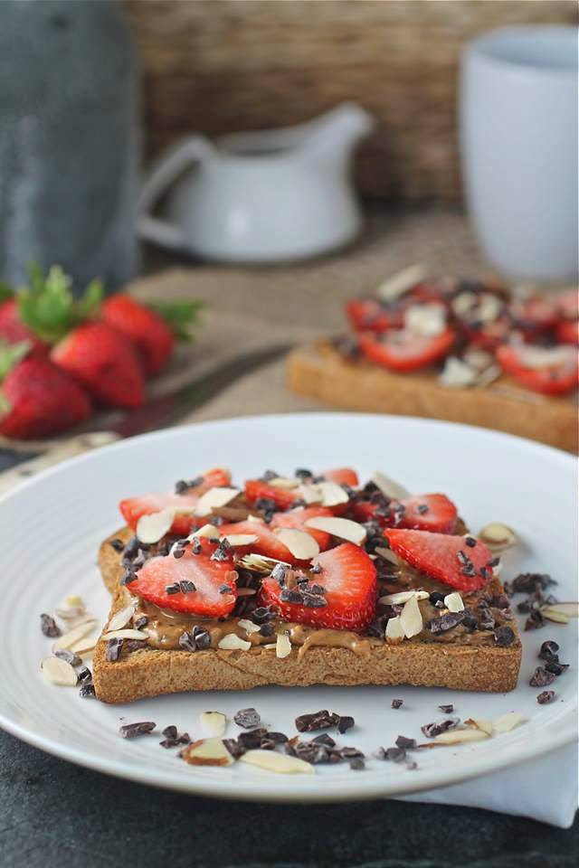 Gluten Free Chocolate Covered Strawberry Toast - Spinach ...