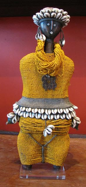 Ndebele Orange Beaded Doll - Namji