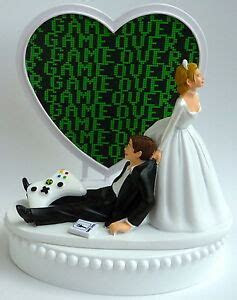 Wedding Cake Topper Game Over Video Gaming Themed Gamer