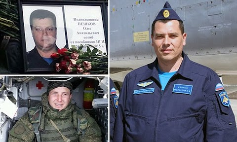 First pictures of the Russian pilot who died when Turkish F-16 shot down his jet over Syria