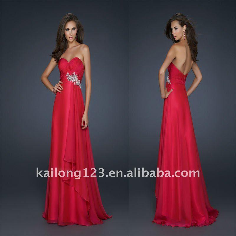 Chiffon evening dresses 2012
