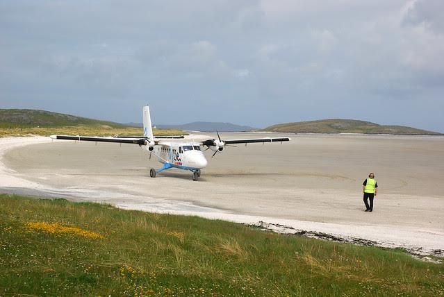 Barra Airport, aye, the beach.