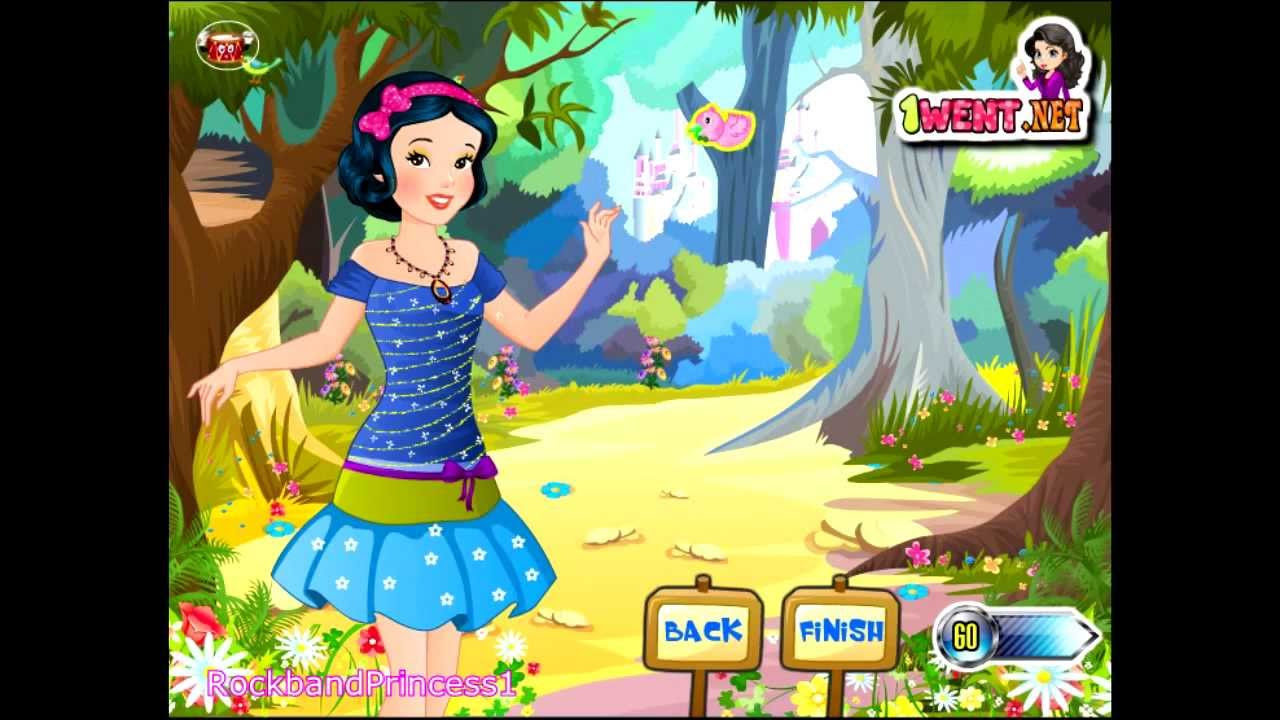 Disney Princess Fashion Dress Up Games - Girls Games - YouTube
