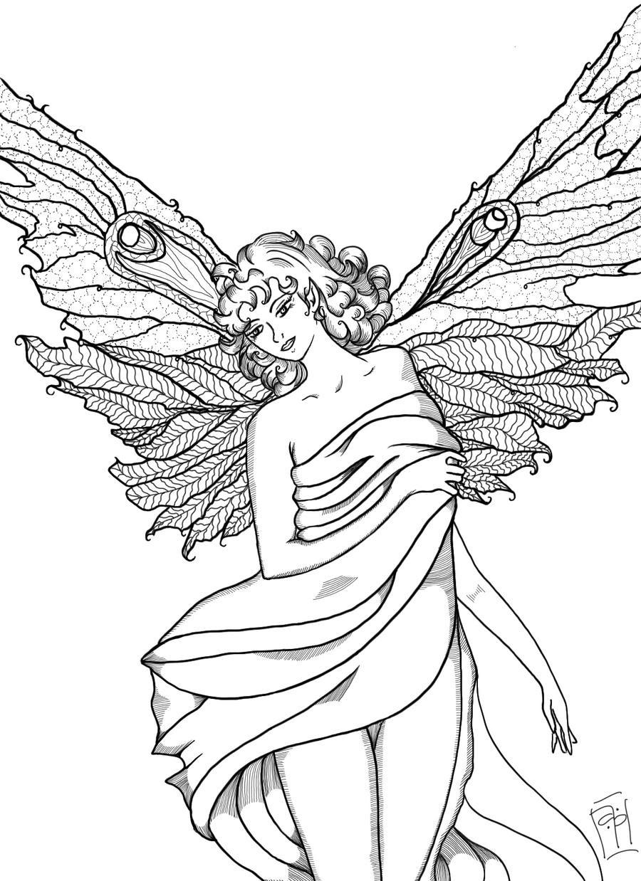 Fairy Line Art-WIP by sintar on DeviantArt