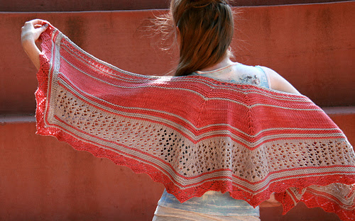 Coral Sands Shawl