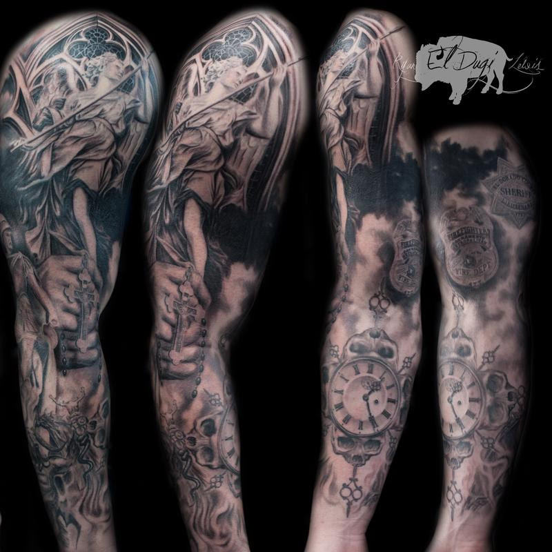 Religious Sleeve By Ryan El Dugi Lewis Tattoonow