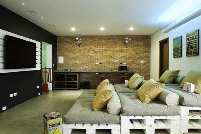 media room basement remodel 6