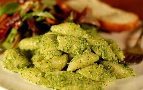 Arugula-Parsley Ricotta Pesto