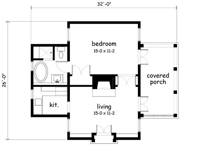 Excellent Center Chimney House Plans Gallery - Image design house ...