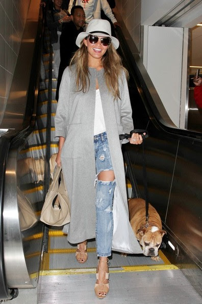Chrissy Teigen and John Legend seen at LAX.
