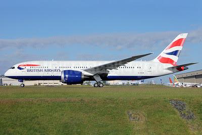 British Airways Boeing 787-8 Dreamliner G-ZBJB (msn 38610) PAE (Nick Dean). Image: 912484.