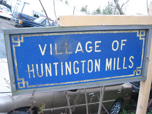 Village of Huntington Mills Sign