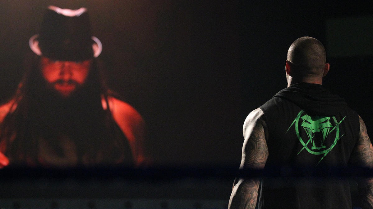 The Eater of Worlds interrupts the celebration and challenges Orton to a House of Horrors Match for the title.