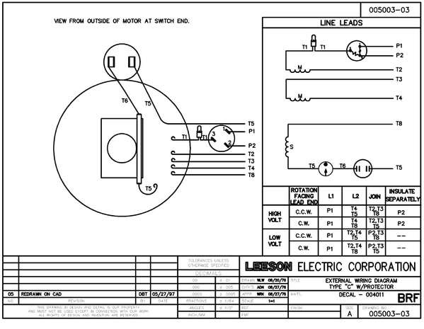 leeson single phase motor wiring diagram  general wiring