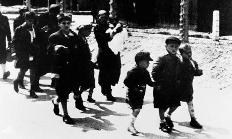 Deported Jewish Children Walking