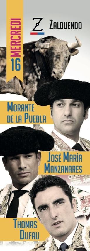 image : Affiche Madeleine corrida du mercredi 16 juillet 2014
