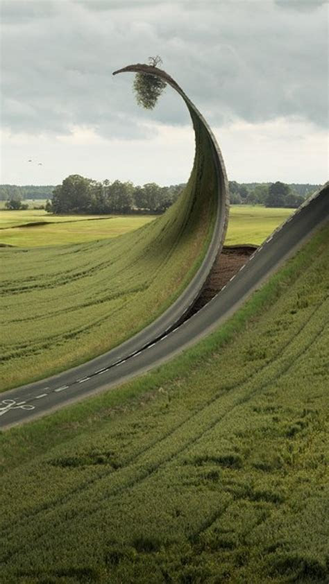 grass surrealism surreal roads artwork photomanipulation