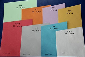 Locker körbe: Geldrollenpapier
