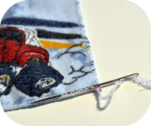 sewing napkins