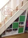 Expedit under-stairs storage - IKEA Hackers