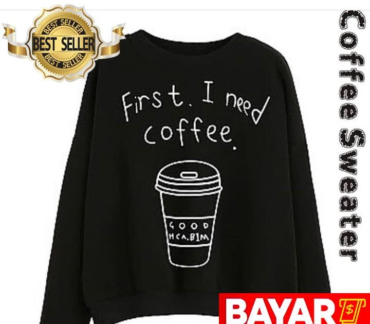 PENAWARAN Sweater Wanita Korean Style - Coffe Black 5538f1ed14