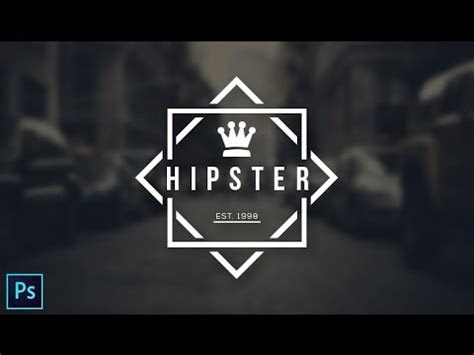 hipster logo design photoshop cc tutorial youtube
