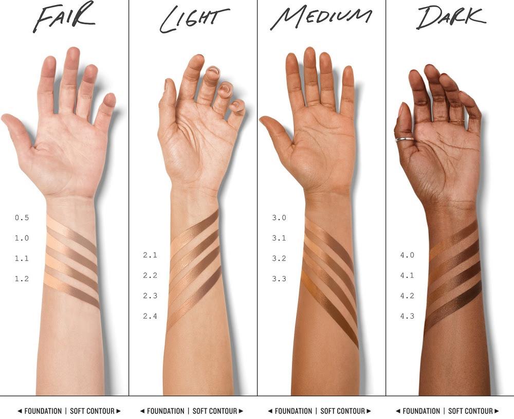 Smashbox Studio Skin Face Shaping Foundation Stick Swatches