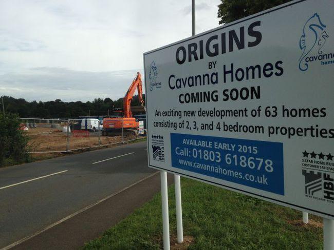 Development at Sawmill Fields, Dartington.