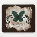 Burned Butterfly Mousepad mousepad