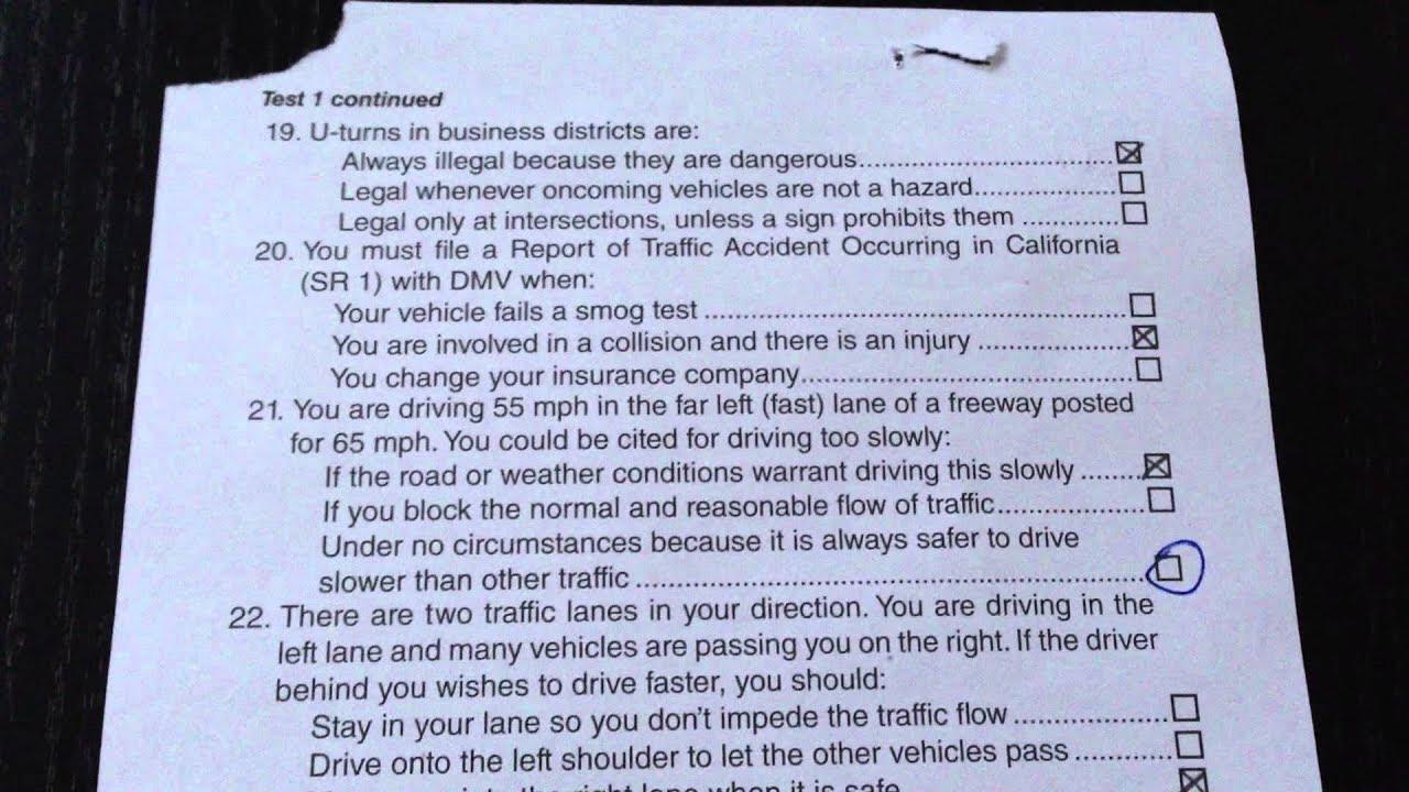 DMV Test on November 01, 2013 - YouTube