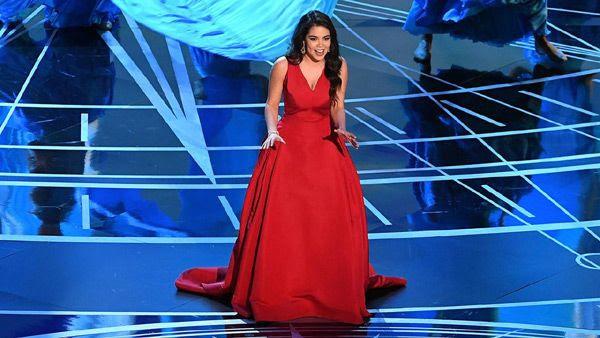 Auli'i Cravalho sings her Oscar-nominated song 'How Far I'll Go' from the Oscar-nominated Pixar film MOANA...on February 26, 2017.