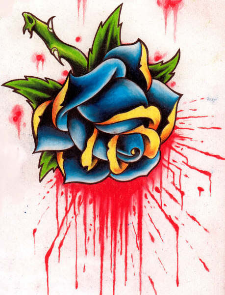 If you chose a red rose for your tattoo, that design should have something