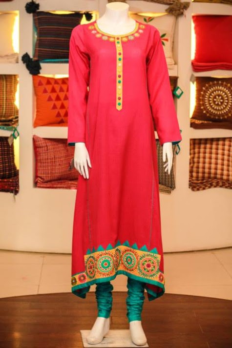 Casual-Lawn-Womens-Girls-Kurta-Kurti-Collection-2013-by-Thredz-for-Ladies-13