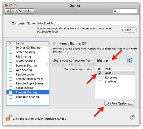 Internet Sharing Mac