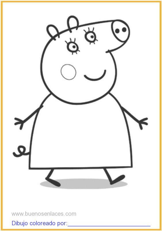 Dibujo De Peppa Pig Paseando Para Colorear E Imprimir