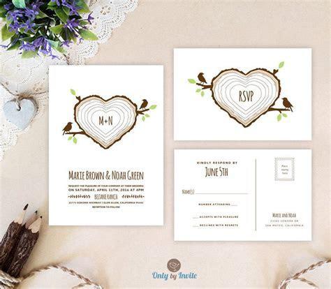 PRINTED   Rustic country wedding invitation   Love birds