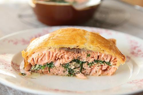 stuffed salmon with a crust