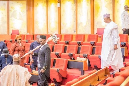 BREAKING: PDP Senators Stage Walk Out Protest Over Member's Defection to APC
