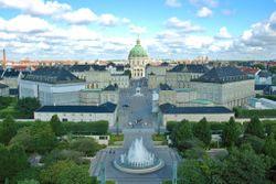 Amalienborg palace is Copenhagen's royal residence