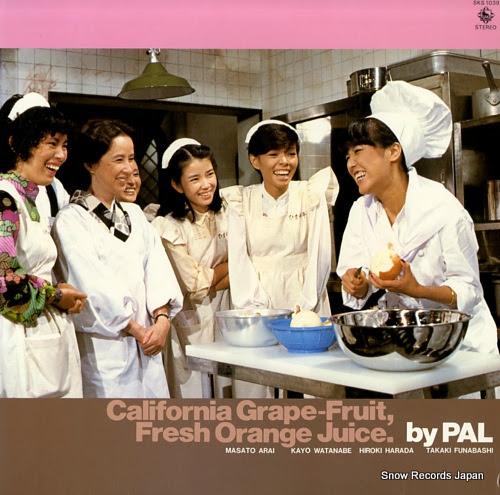 PAL califprnia grape-ftuite, fresh orange juice.