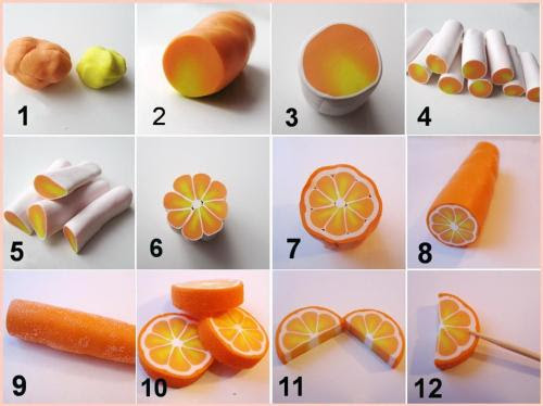 Polymer Clay Orange (DIY)