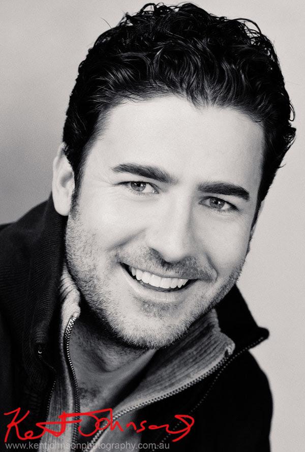 Male Modelling Portfolio Headshot, Black and white headshot for Comp Card